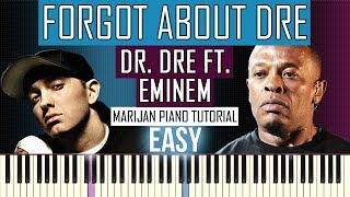 Piano Tutorial for beginners: Learn how to play DR. DRE FT. EMINEM - FORGOT ABOUT DRE on piano. Dr. Dre Medley - Sheet Music available here: ...