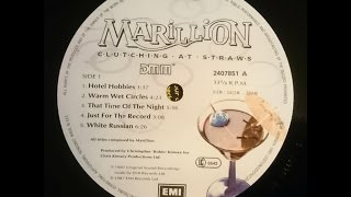 Marillion Hotel Hobbies Warm Wet Circles That Time Of The Night Vinyl