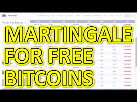 Automated Bitcoin Casino - Martingale System On PrimeDice