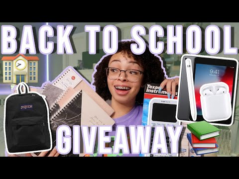 My HUGE 2019-2020 Back to School Giveaway! (CLOSED)   iPad Mini, AirPods, Apple Pencil & More