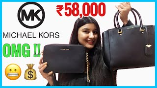 Rs 58 000 Michael Kors Luxury HandBag Unboxing Black Large Benning Satchel and Crossbody Bag Somi