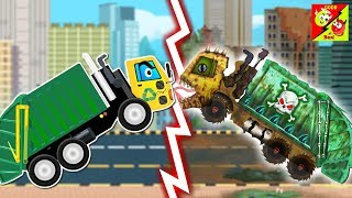 good and bad Garbage Truck cartoon story for kids | Street Vehicles For Kids l Ep 13