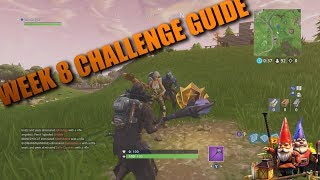 Fortnite Week 8 Challenges All Locations! Fortnite Battle Royale Update Hungry Gnomes!