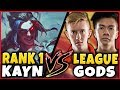 #1 KAYN WORLD (CHALLENGER 77% WINRATE) vs. PRO PLAYERS (SHIPHTUR & FROGGEN) - League of Legends