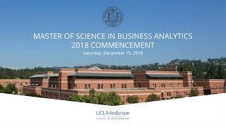 Master of Science in Business Analytics Commencement