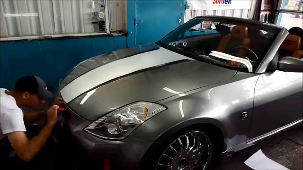 2006 Nissan 350z Hood Wrap Youtube