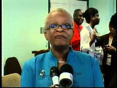 Grenada Health Minister doing what she does best