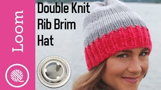 Loom   Double Knit Rib Brim Hat (KB Rotating Double Knit Loom)