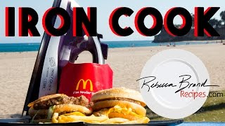 How to  Cook A McDonald's Big Mac Hamburger with an Iron