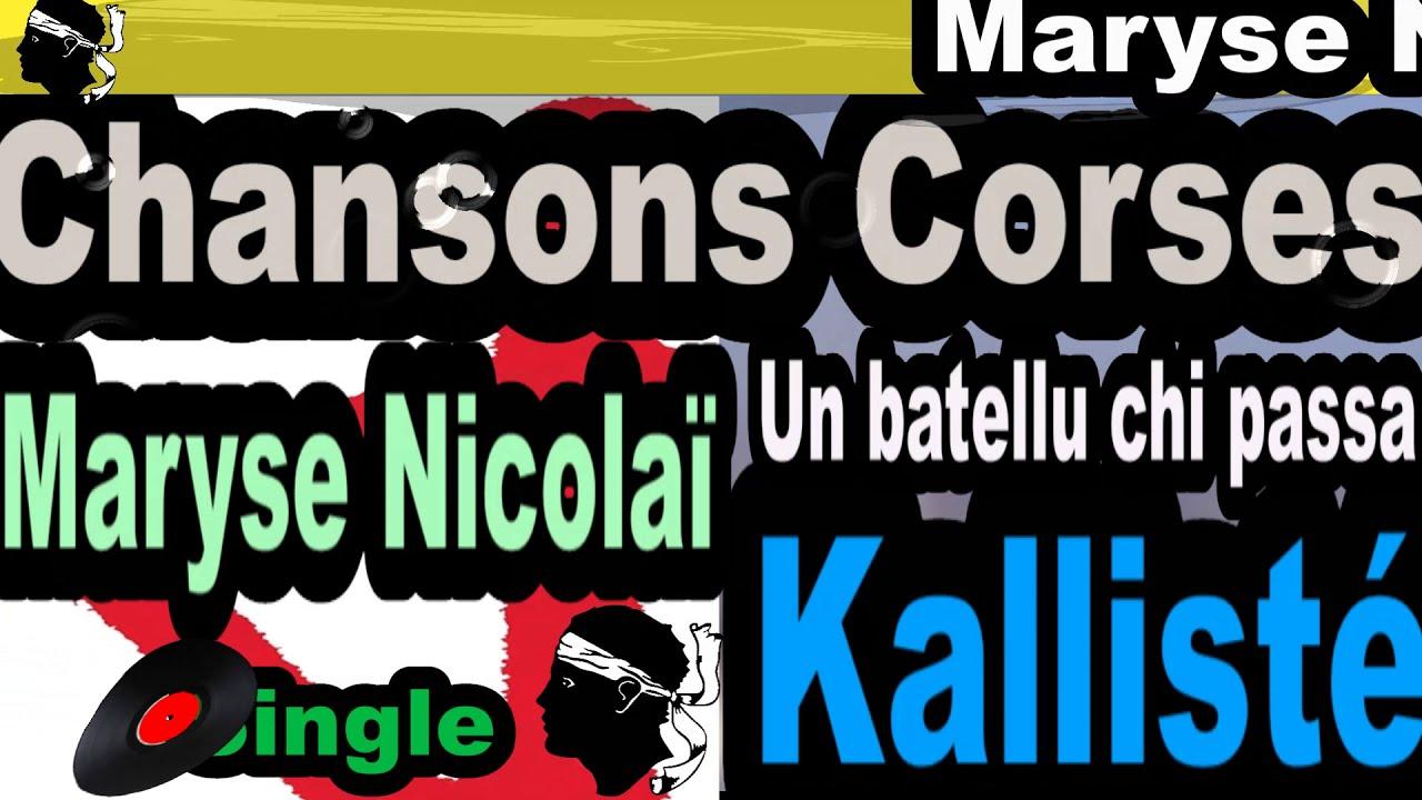 Chansons Corses Maryse Nicolaï Un batellu chi passa coppelia olivi