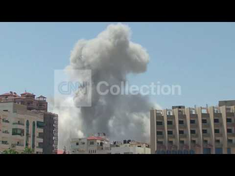 MIDEAST:ISRAELI AIRSTRIKES ON GAZA-SMOKE RISING