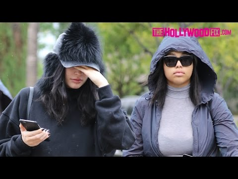 Kylie Jenner & Jordyn Woods Have Lunch At Le Pain Quotidien Before Returning Home In Calabasas