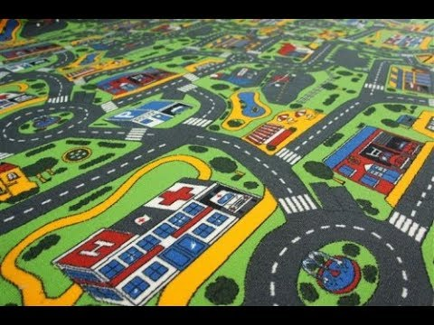 Ковровое покрытие в детскую комнату City Life (детский-ковролин.com.ua)
