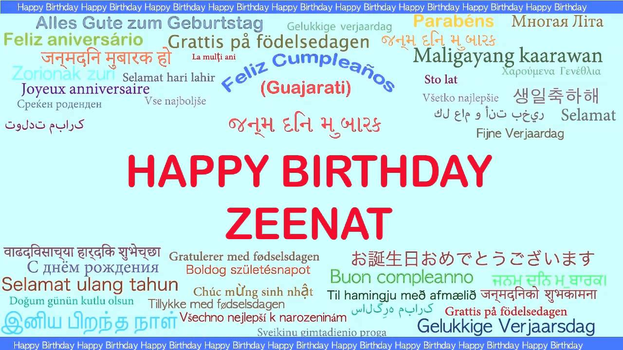 Zeenat Languages Idiomas Happy Birthday YouTube