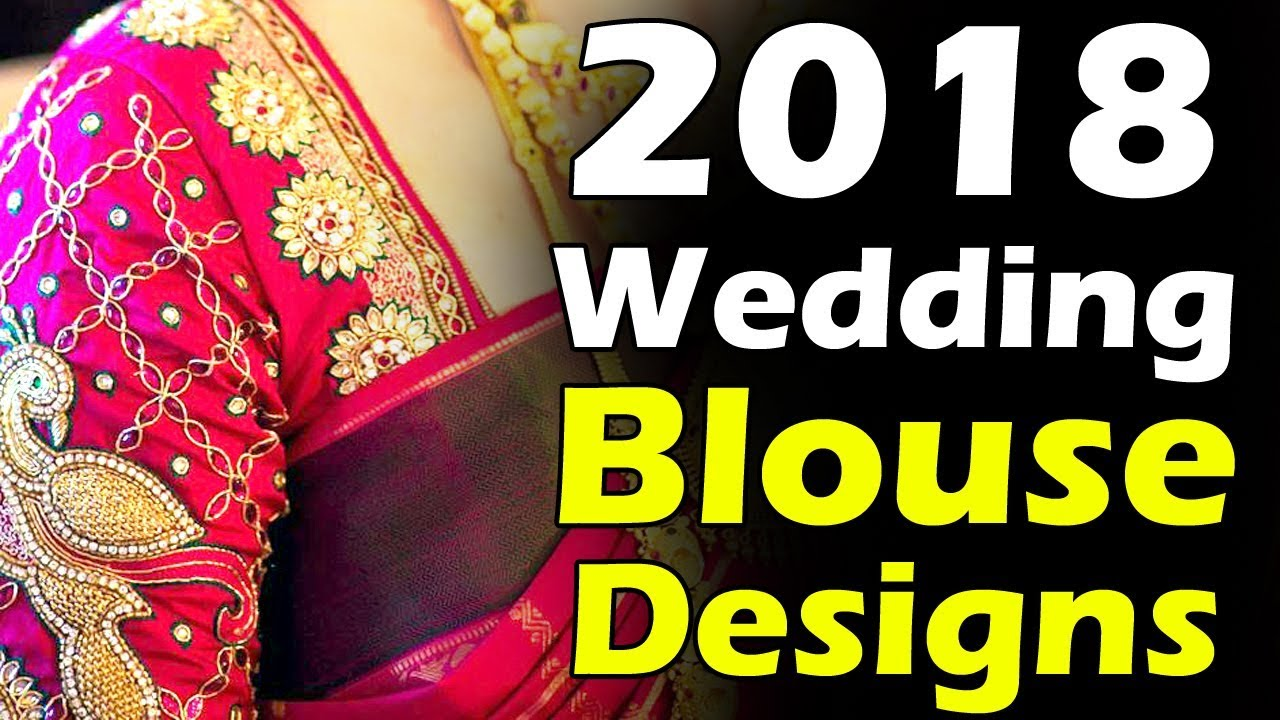 aeafe0e181 Latest 2019 Wedding Blouse Designs | Latest Beautiful Bridal Blouse Designs  Heavy Work Blouses