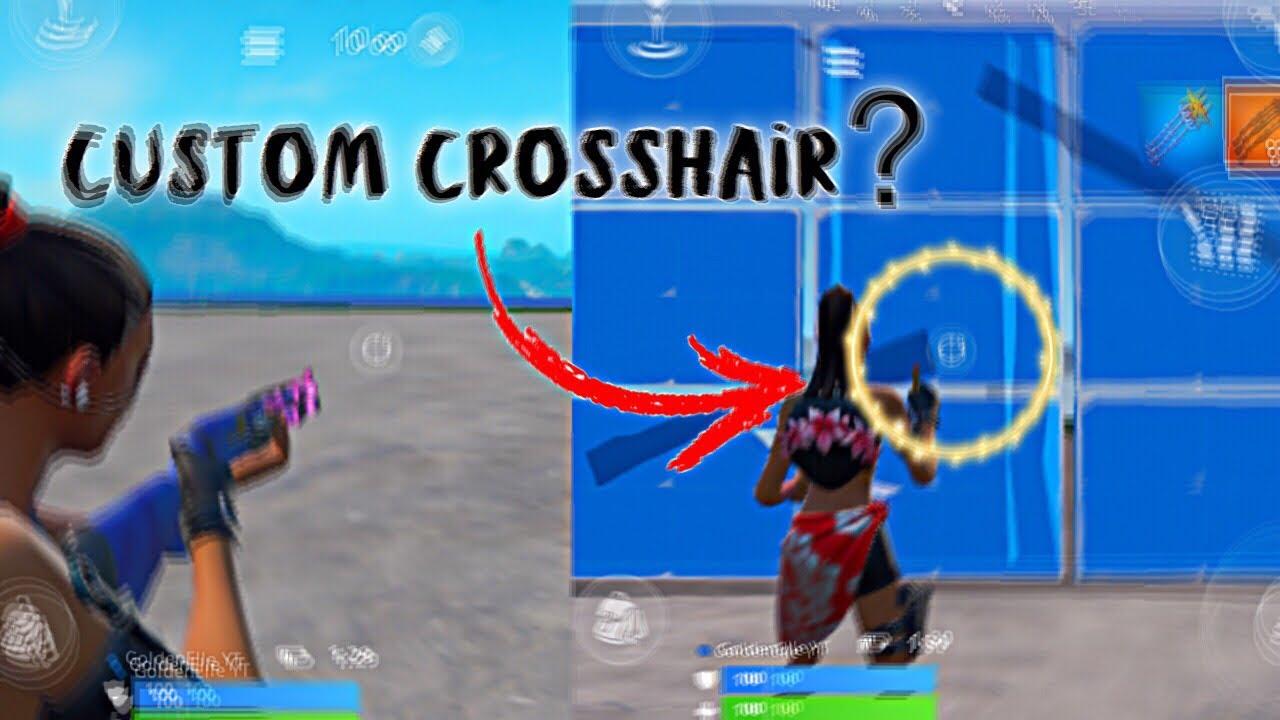 4 61 MB] how to get CUSTOM CROSSHAIR in fortnite mobile