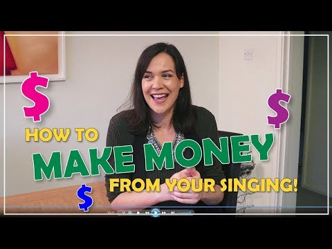 How to make money from singing! $$ // Singer's Secret