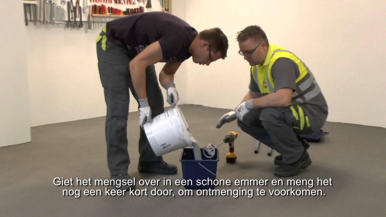 hoe breng je een epoxy vloer coating aan weber youtube