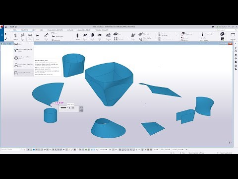 Tekla Structures 2019i Lofted Plate