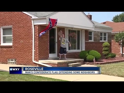 Macomb Co. man flying confederate flag says 'black people' aren't welcome