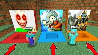 Minecraft Battle: NOOB vs PRO : WHAT PIT A CHOOSE TO SURVIVE in Minecraft / Animation