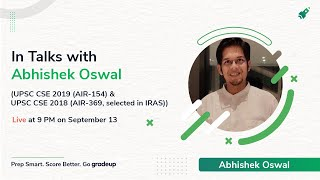 (Success Story) Abhishek Oswal: Rank 154 in UPSC CSE 2019. Know strategy to clear UPSC 2021 Exam