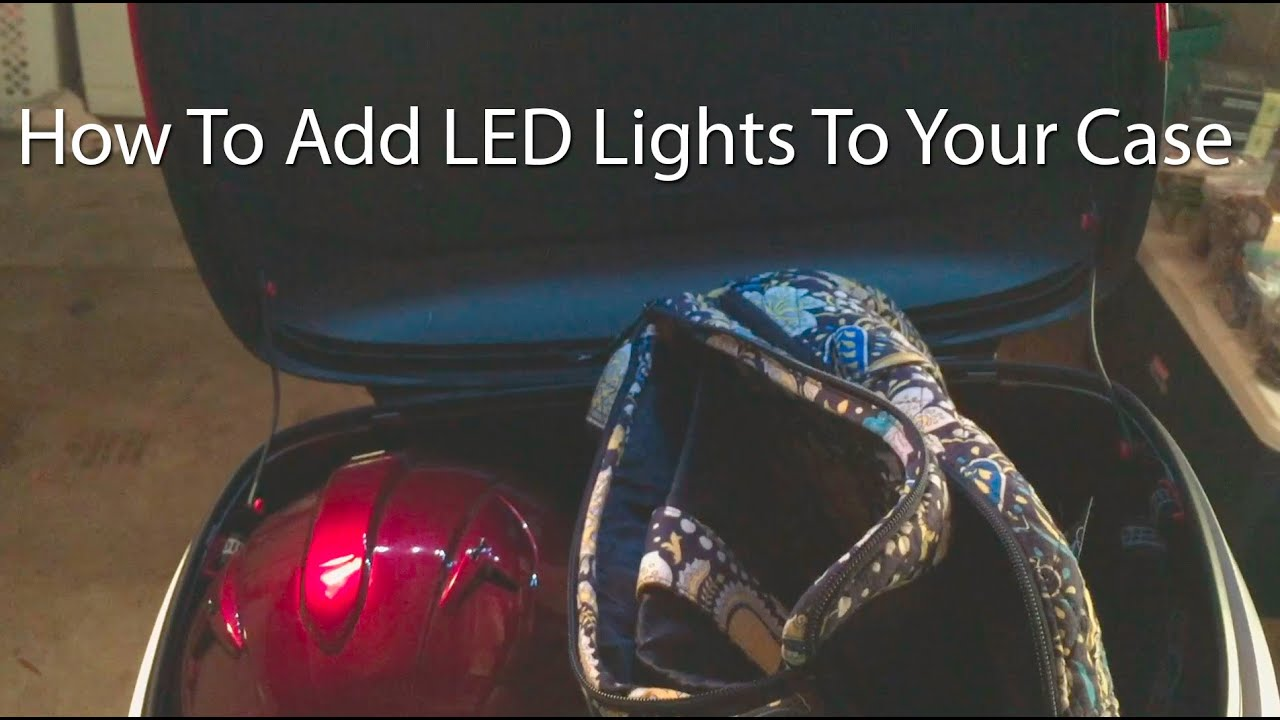 How to add led lights to your motorcycle case trunk or bags youtube how to add led lights to your motorcycle case trunk or bags asfbconference2016 Gallery