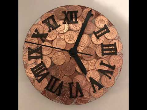 Making A Clock From Epoxy Resin & Pennies