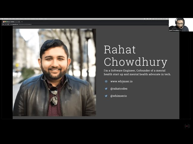 CBT for Imposter Syndrome and Career Advancement – Rahat Chowdhury – Virtual Coffee Brownbag