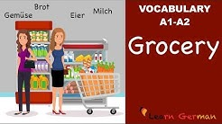Learn German Vocabulary | 25 useful Food items in everyday life | Lebensmittel