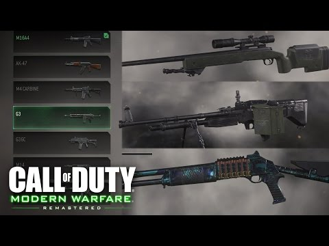 Call Of Duty 4: Modern Warfare - All Weapons, Camos, Perks (Firing Range) SHOWCASE