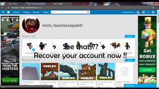 How to recover your roblox account (Easy Method) | Working 2019