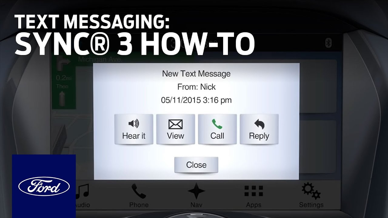 SYNC 3 Text Messaging | SYNC 3 How-To | Ford