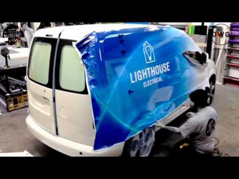 JWG  VW Caddy vehicle wrap / branding