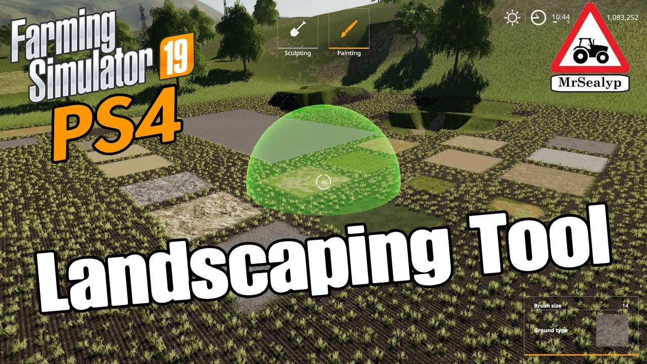 Farming Simulator 19 Ps4 A Guide To Landscaping Tool Assistance Youtube