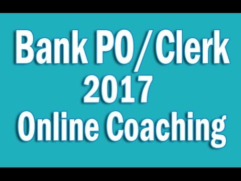 Bank PO Clerk 2017 Online Coaching, Banking Pendrive Course, IBPS SBI RRB Preparation Study Material