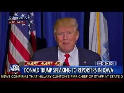 Donald Trump Speaking In Iowa - Dubuque. IA