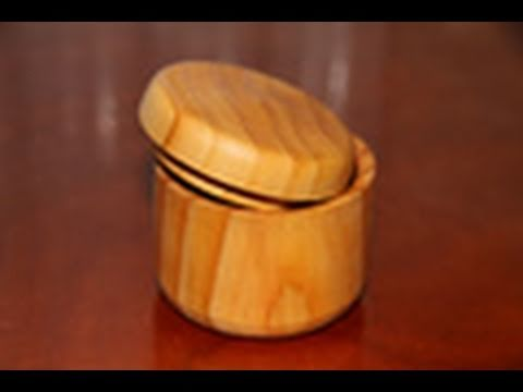 Woodturning Project Wooden Box on the Lathe - YouTube