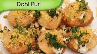 Dahi Puri | Indian Curd Canape | Fast Food Recipe by Ruchi Bharani
