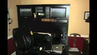 My New Desk! - Realspace Magellan Performance Collection L Desk & Hutch, Espresso Finish