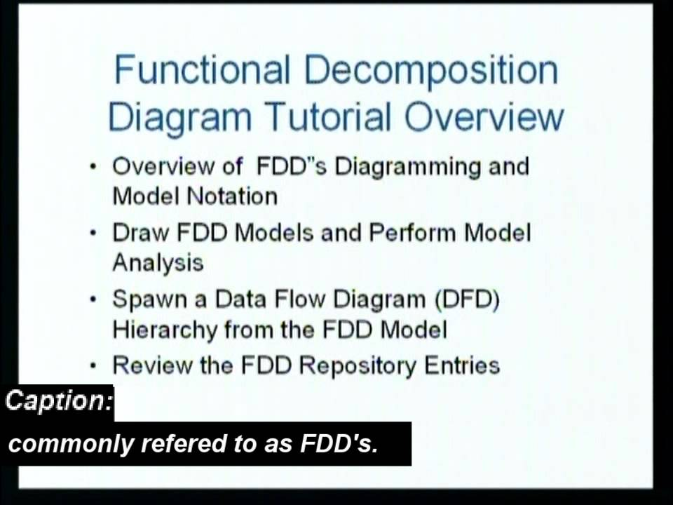 Etutorial Overview Functional Decomposition Diagramming