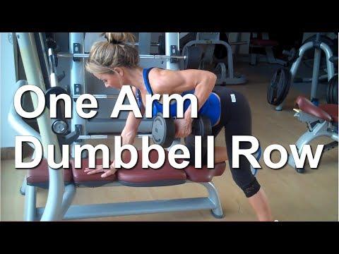 How to: One Arm Dumbbell Row Alexandra Wilson