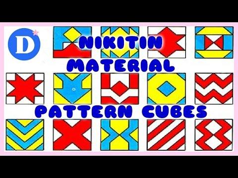 Развивающие игры для детей / ПОСОБИЕ НИКИТИНЫХ СЛОЖИ УЗОР / Nikitin Materials Pattern Cubes