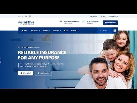 Instive - Insurance Agency WordPress Theme