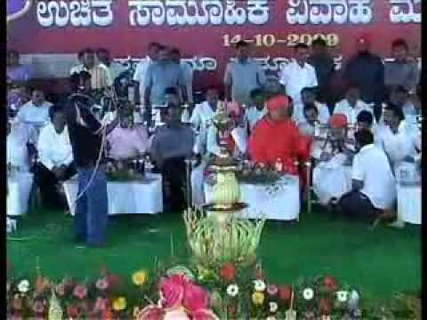 Padmabhushana Pandit Puttaraja Gavayi speech   Gadag Mass Marriage 2009