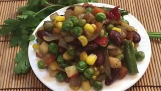 Легкий и полезный УЖИН из замороженных овощей. Для вегетарианцев и не только!