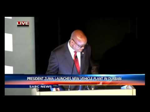President Zuma launches new Toyota manufacturing plant in Durban