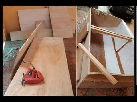 How to build wooden fish tank with fiberglass-liner