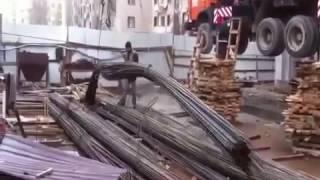Работа автокрана Галичанин 25 тонн