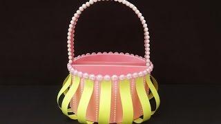 DIY Christmas Gift Basket : How to Make Cute Handmade Foam Basket for Christmas Chocolates & Gifts!